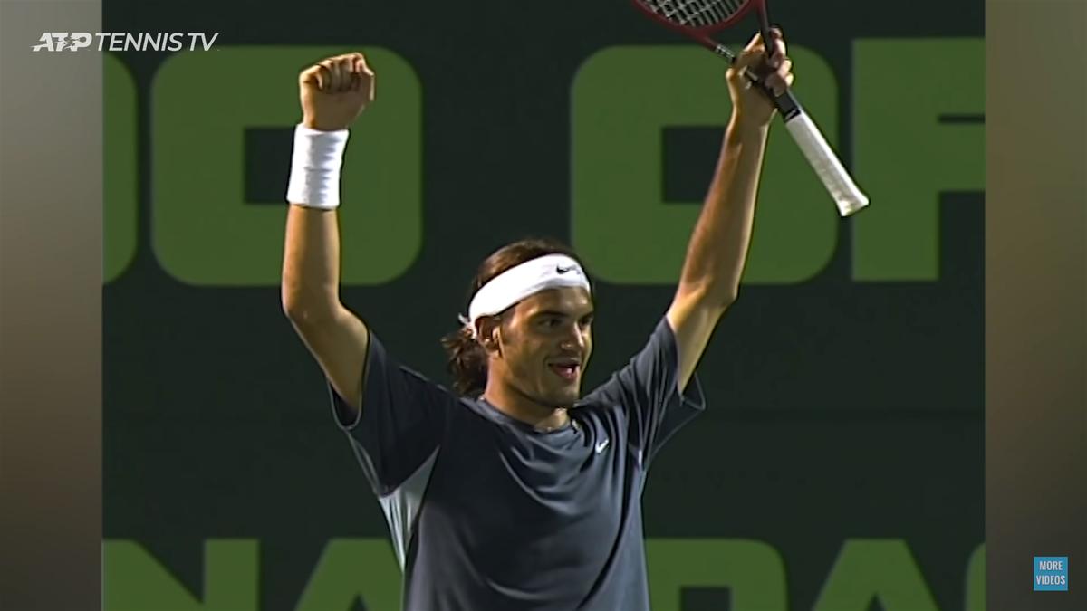 Roger Federer, Miami 2002 (Youtube: Credit Tennis TV)