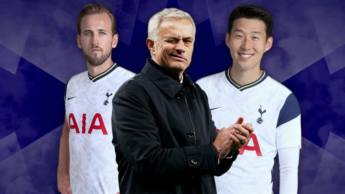 Harry Kane, José Mourinho et Heung-min Son