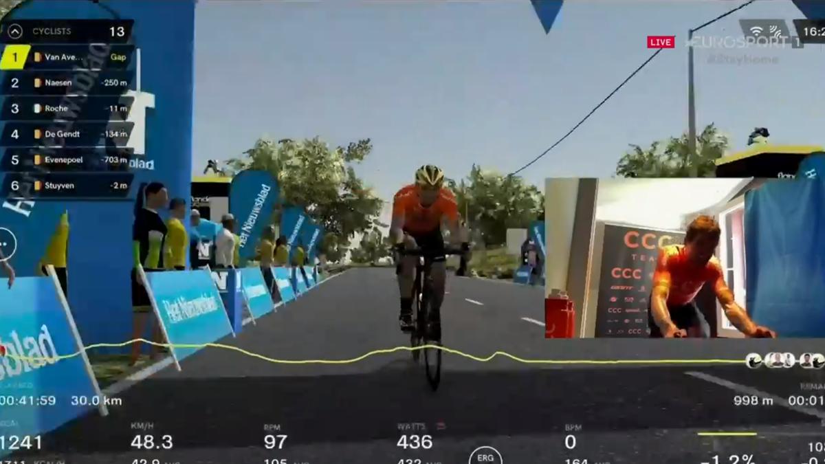 Greg van Avermaet powers to virtual Tour of Flanders win