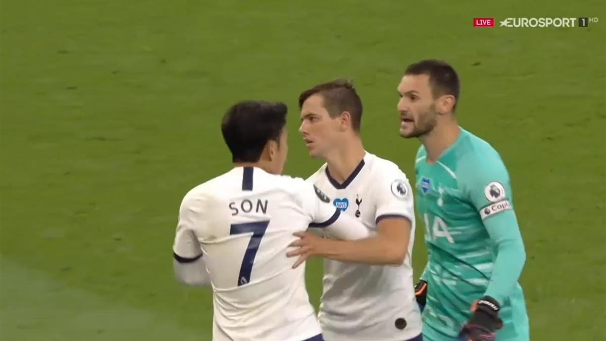 Incidentul dintre Heung-min Son și Hugo Lloris, din meciul Tottenham - Everton