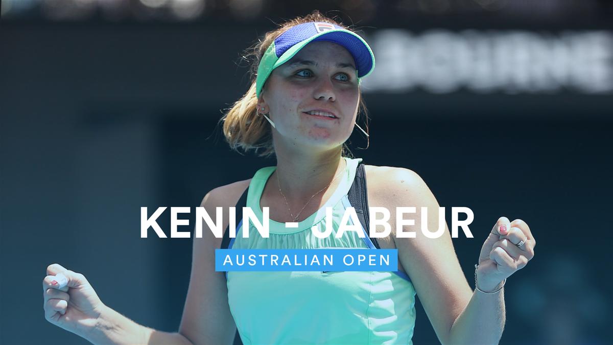 Australian Open : Highlights Kenin v Jabeur