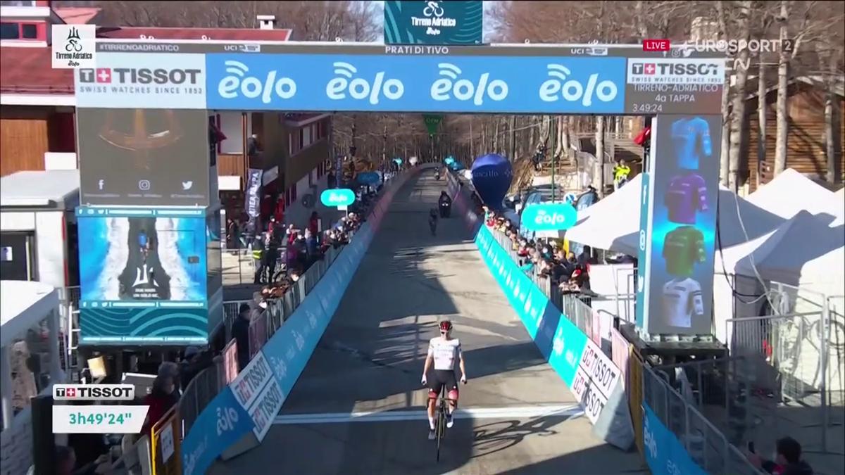 Tirreno: Das Finale der Bergankunft auf der 4. Etappe - Yates jagt Pogacar