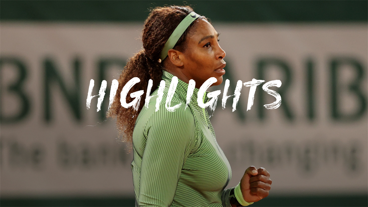 Highlights: Serena survives first test under the lights