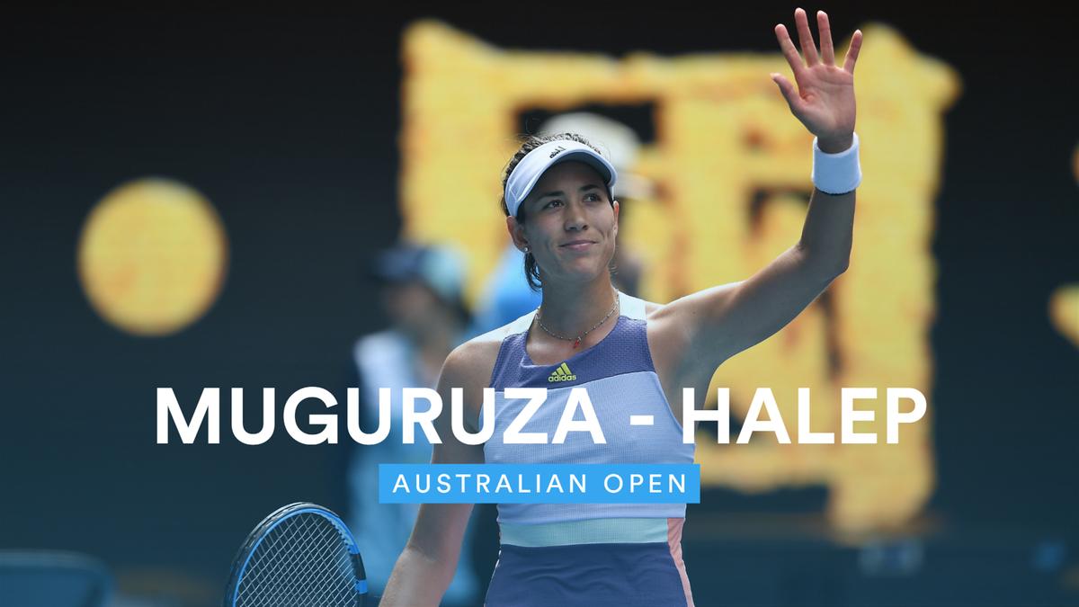 Australian Open : Halep v Muguruza - highlights