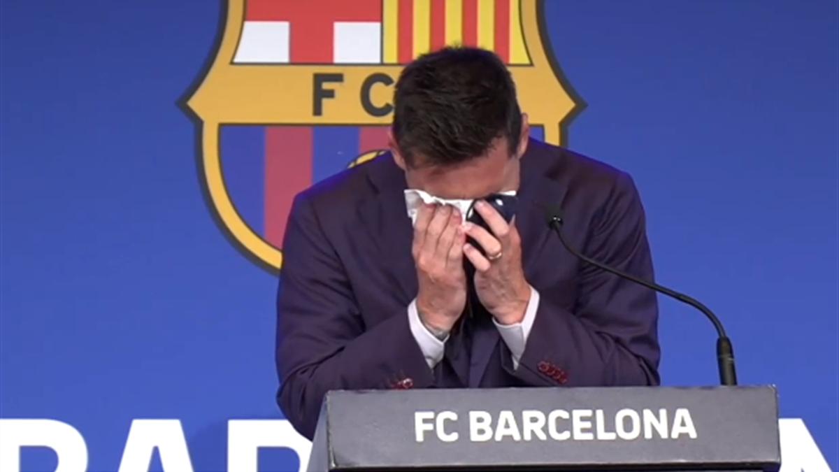 Leo Messi in lacrime