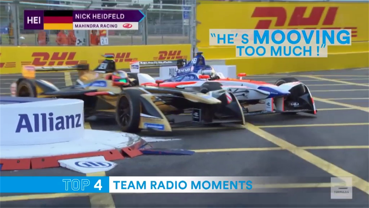 Top 5 : Team radio moments in Formula E