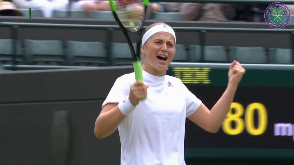 Wimbledon Highlights : Cibulkova vs Ostapenko