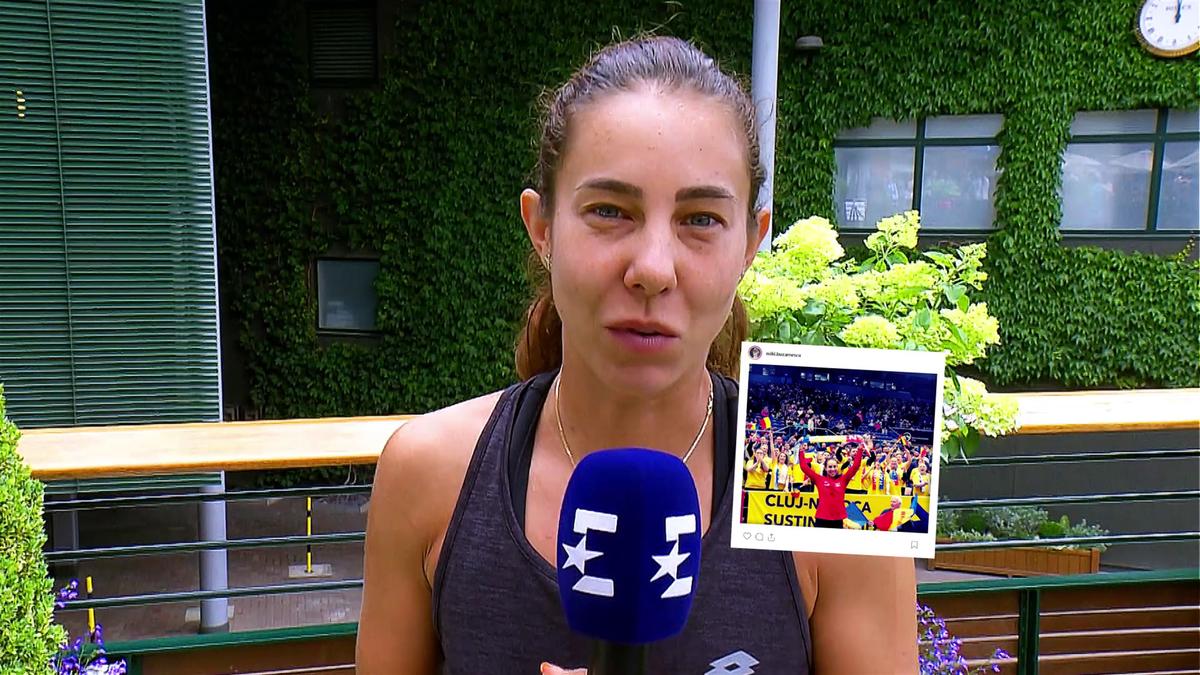 Wimbledon - Buzarnescu instagram Interview (RO)