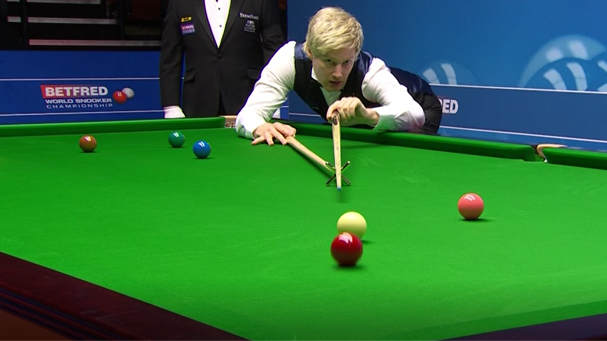Neil Robertson im Crucible Theatre in Aktion