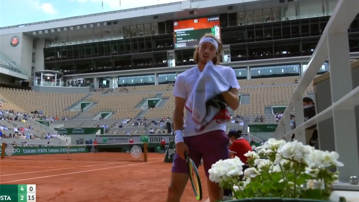 'He's already had a warning!' - Tsitsipas in towel drama, almost gets punished