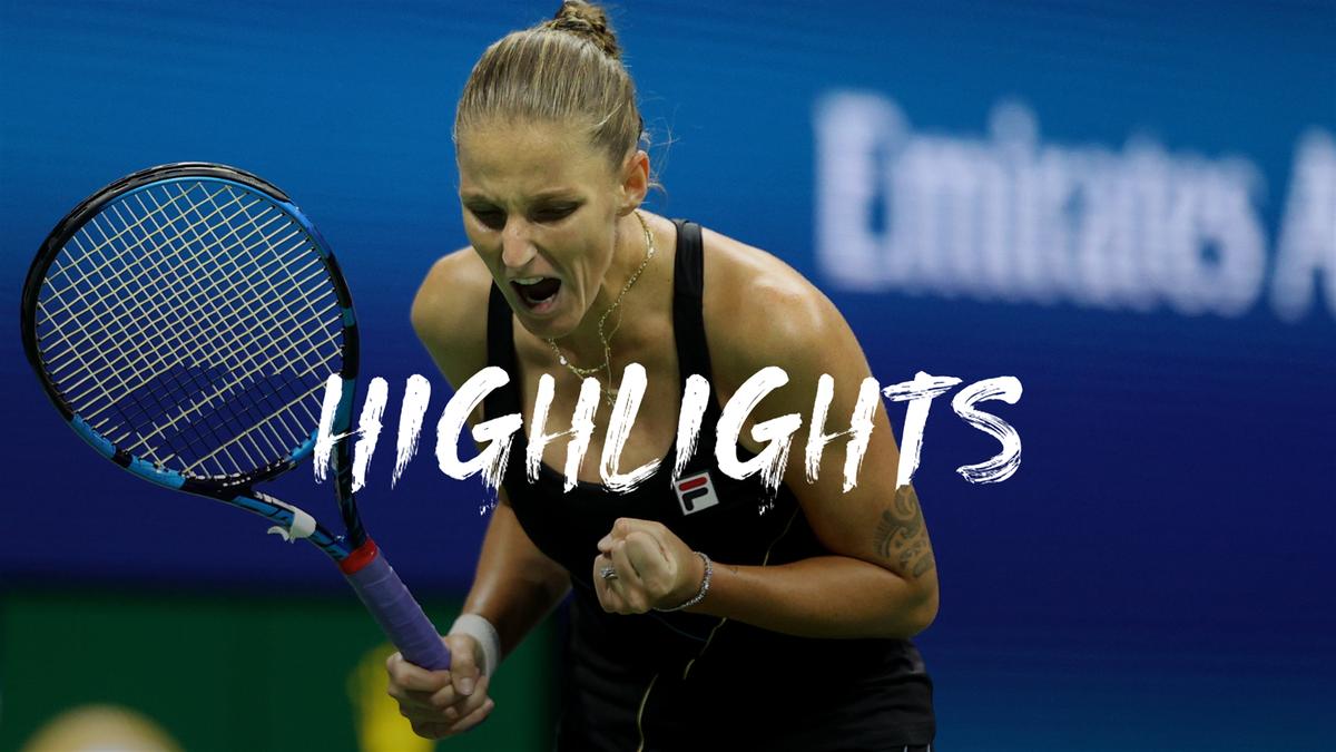 US Open: Day 4 - Highlights Pliskova v Anisimova