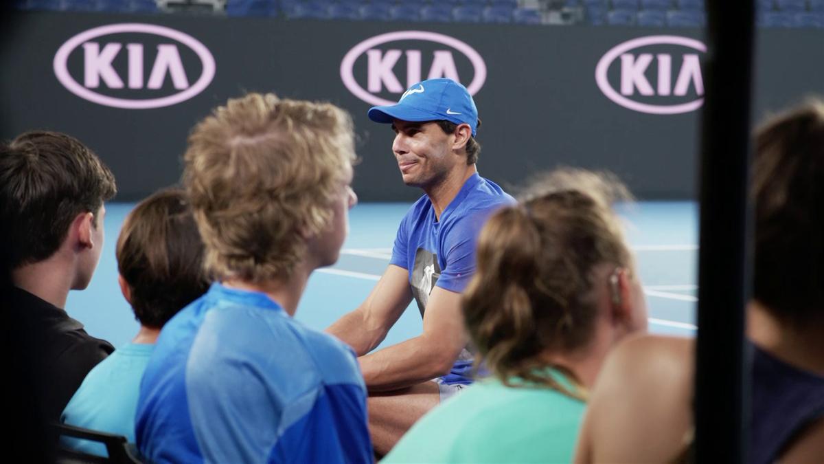 Australian Open : Nadal meets kids
