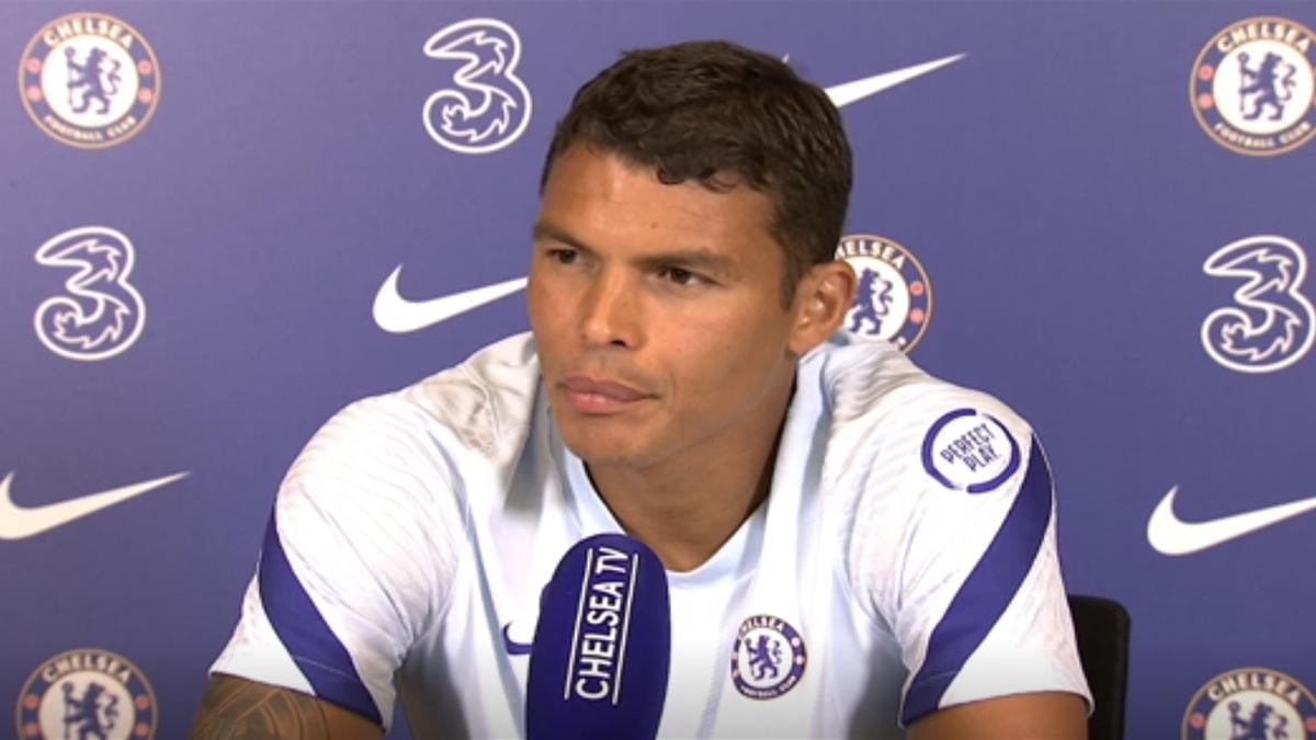 Thiago Silva, la prima conferință de presă la Chelsea