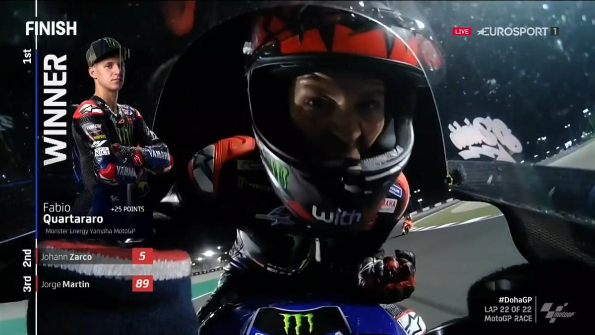 MotoGP Doha   Quartararo wint 2e GP van het seizoen