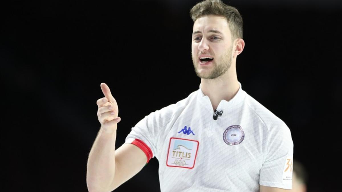 Amos Mosaner, Italia, ai Mondiali di curling 2018