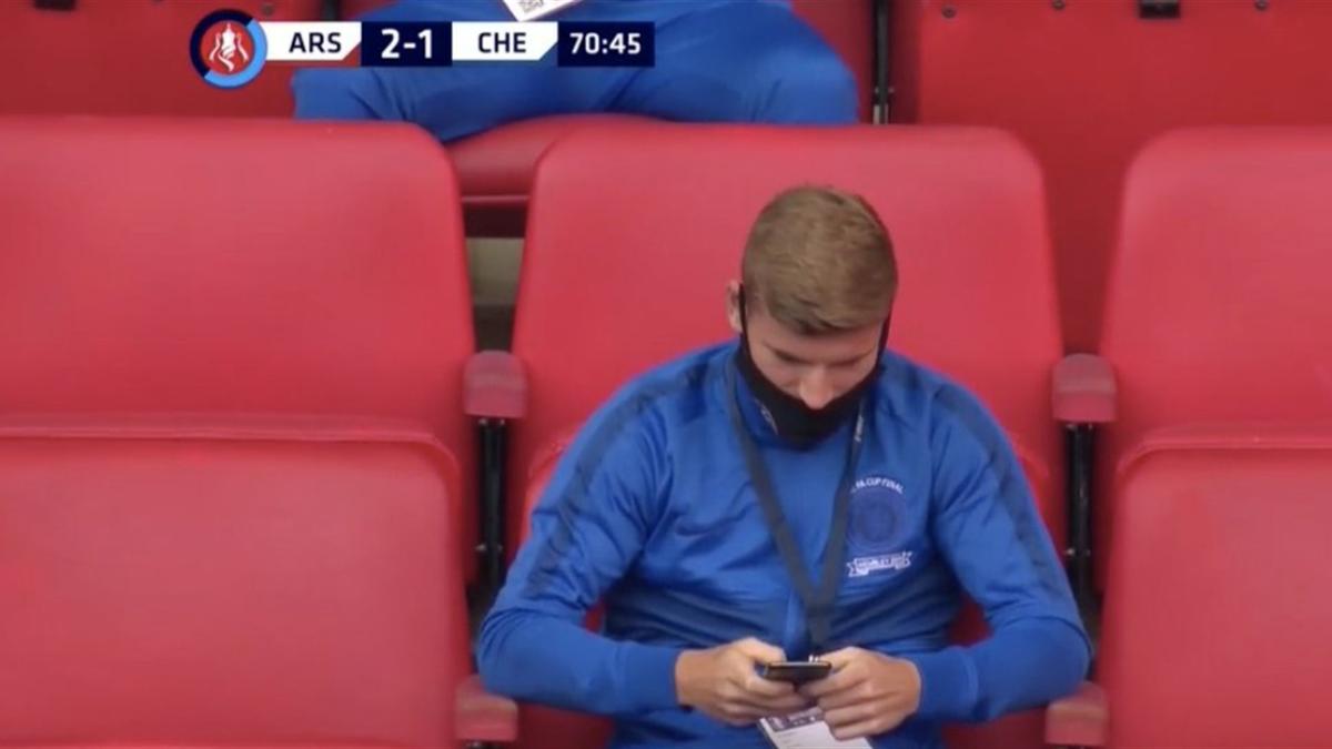 Timo Werner a părut că și-a pierdut interesul pentru finala Cupei Angliei