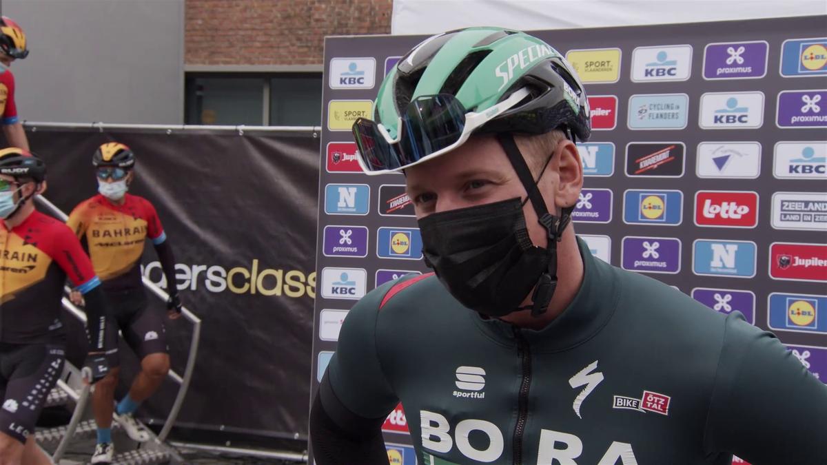 Pascal Ackermann a fost descalificat după ce a provocat căzătura de la finish-ul din Scheldeprijs