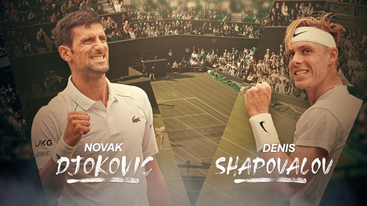 WImbledon : Feature Djokovic v Shapovalov