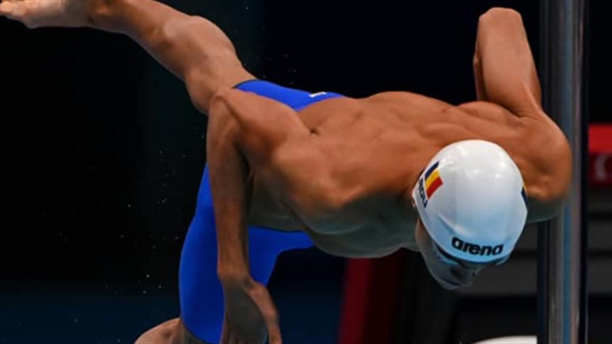 David Popovici, la Jocurile Olimpice. Sursă foto: Facebook Comitetul Olimpic și Sportiv Român