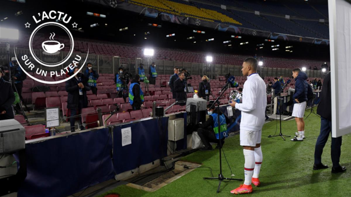 Kylian Mbappé face à la presse après son match fantastique contre le FC Barcelone
