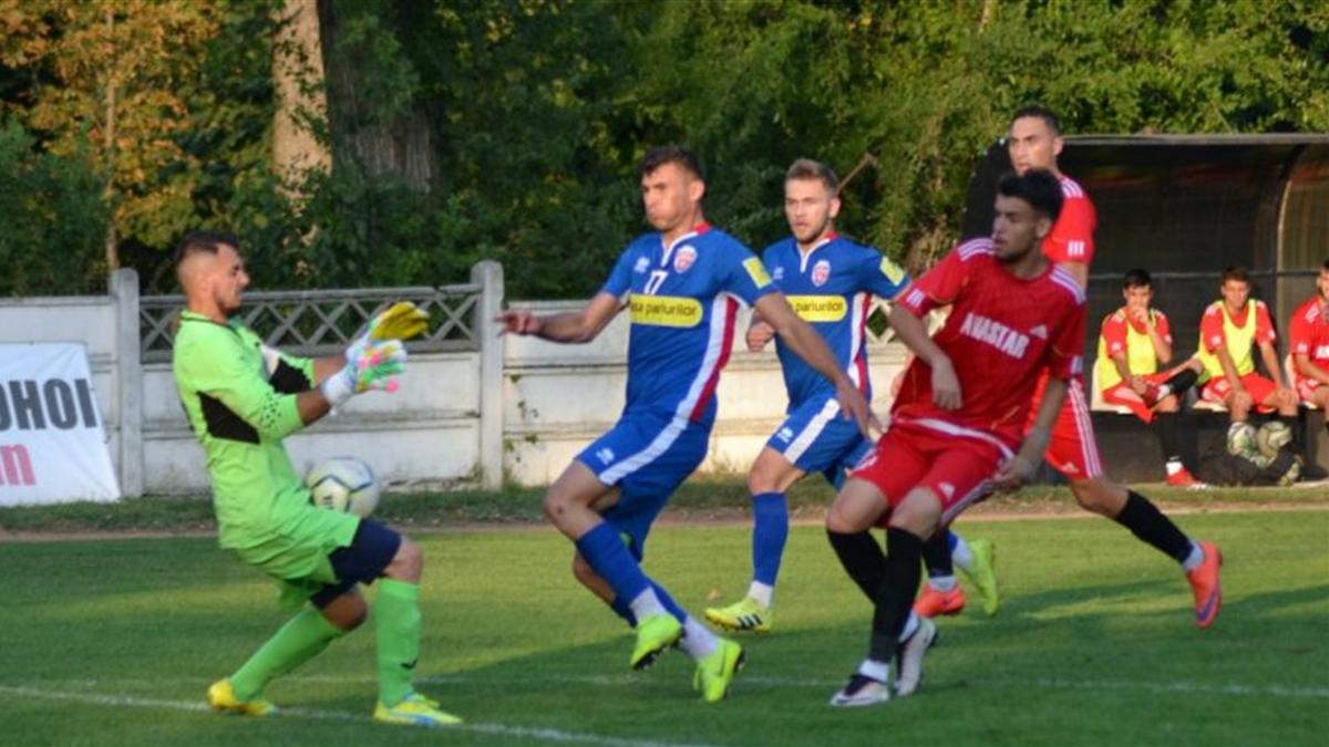 Imagine de la partida dintre FC 2 Botoșani și CSM Pașcani, scor 4-2