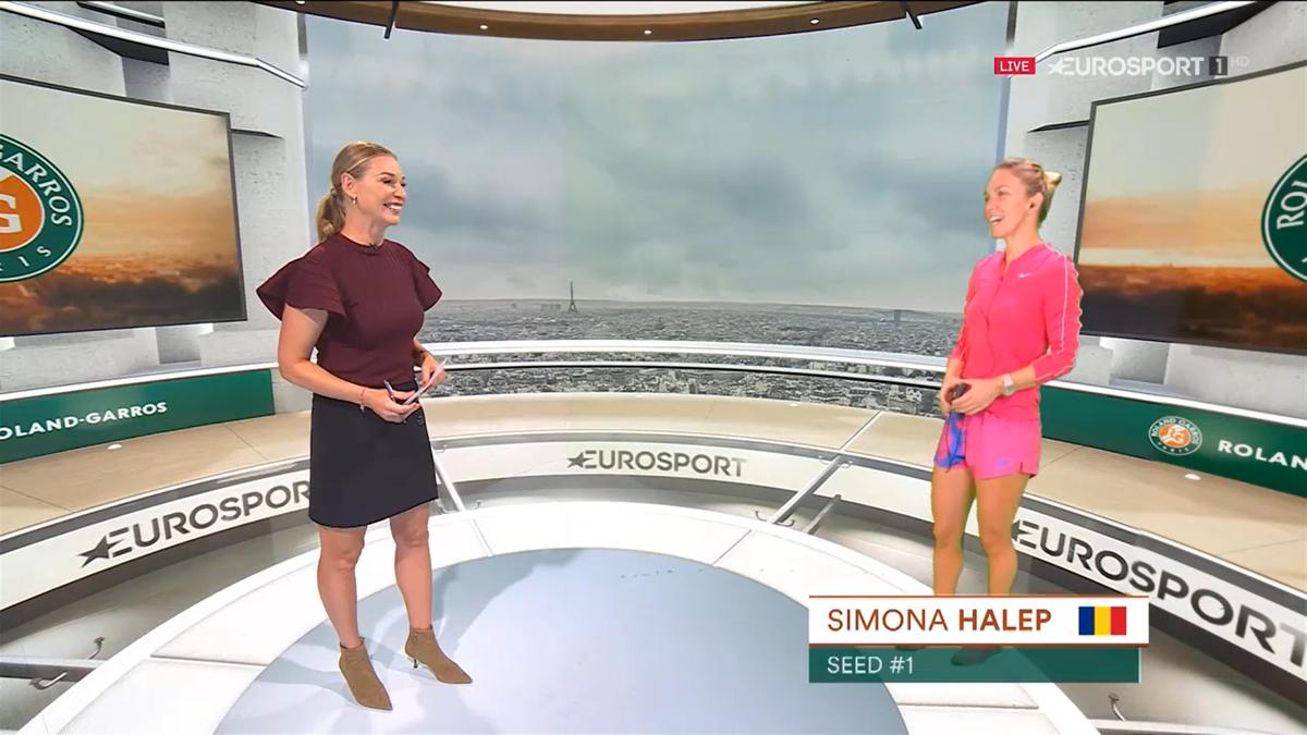 Simona Halep, invitata Barbarei Schett în cubul Eurosport