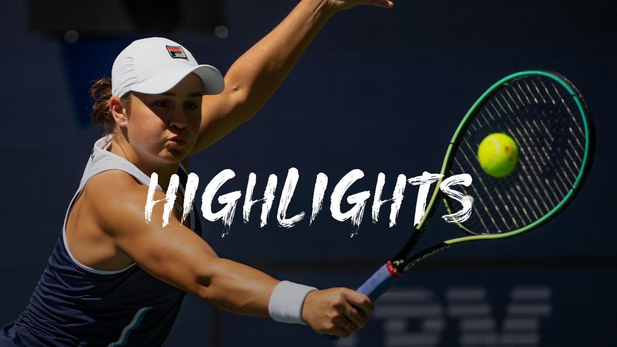 US Open   Barty brengt het maar net in twee sets tot een goed einde