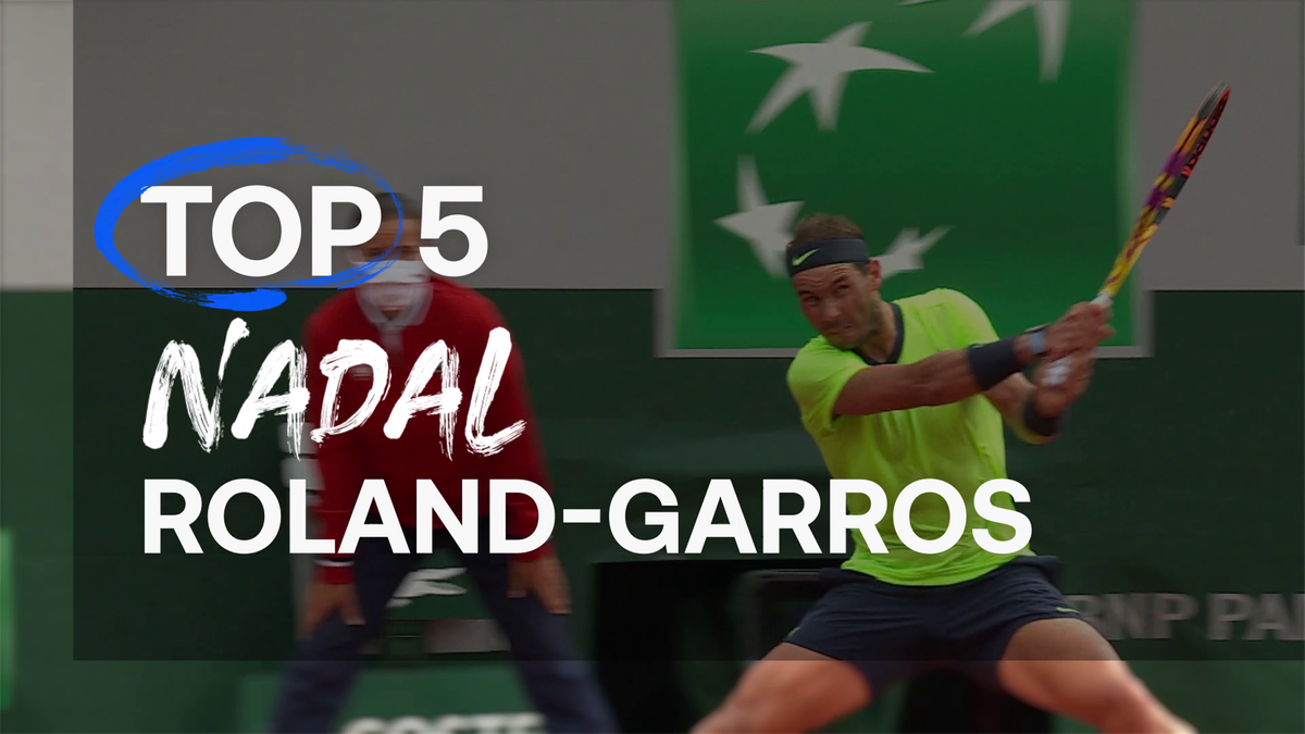 Top 5: The best shots from Nadal after falling short in 14th title pursuit