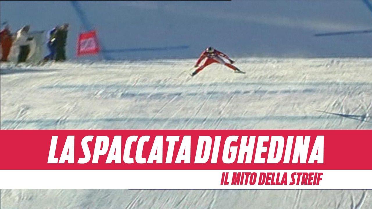 """Sci, La """"follia"""" di Kristian Ghedina: la spaccata sulla Streif a 137 km/h -  Sci Alpino video - Eurosport"""