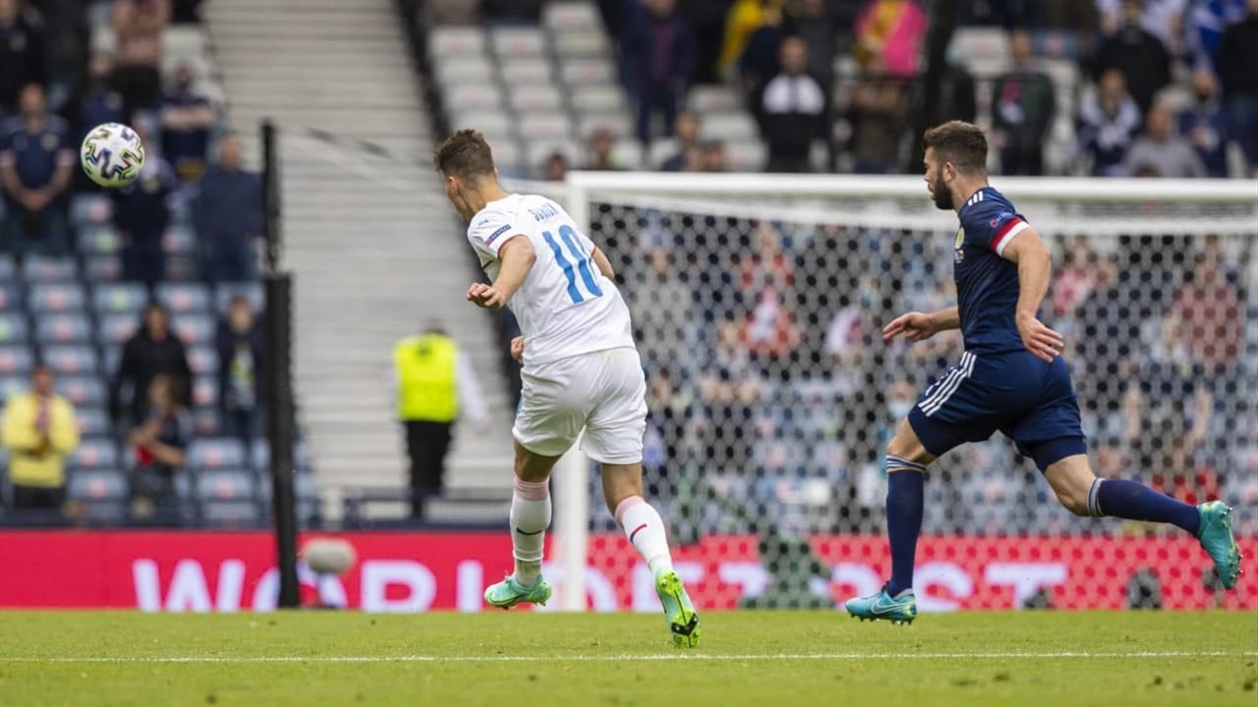 Euro 2020 - 'It's absurdly difficult to do' - Patrik Schick's wonder goal v  Scotland praised - Football video - Eurosport