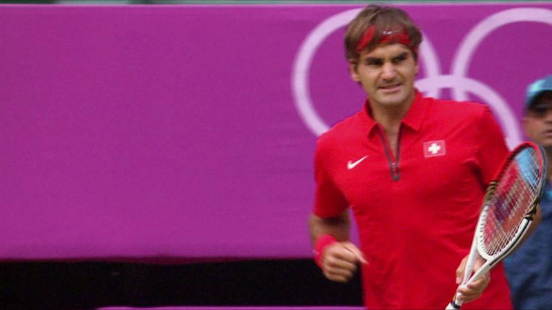 Roger Federer mit 19