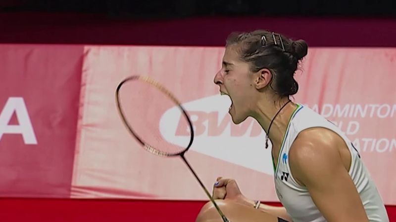 Carolina Marin on track for Tokyo after dedicating emotional win to father