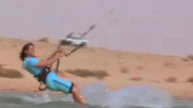 Kitesurfing with Charlotte