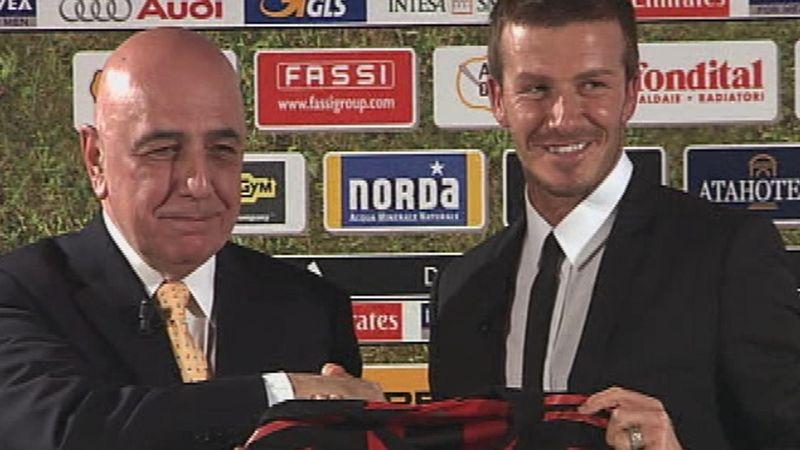 Beckham unveiled in Milan