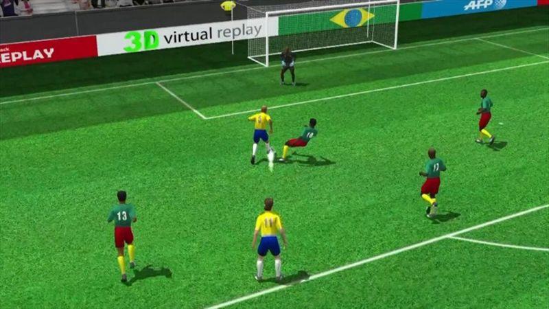 3D goal: Fernandinho for Brazil