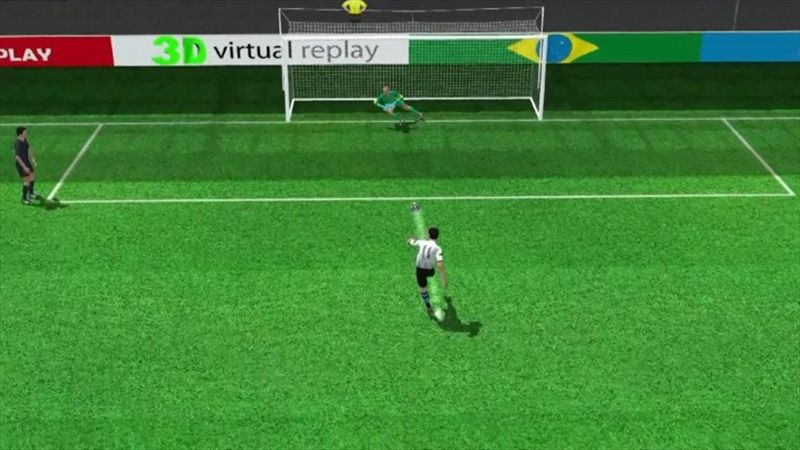 3D goal: Maxi Rodriguez scores the winning penalty