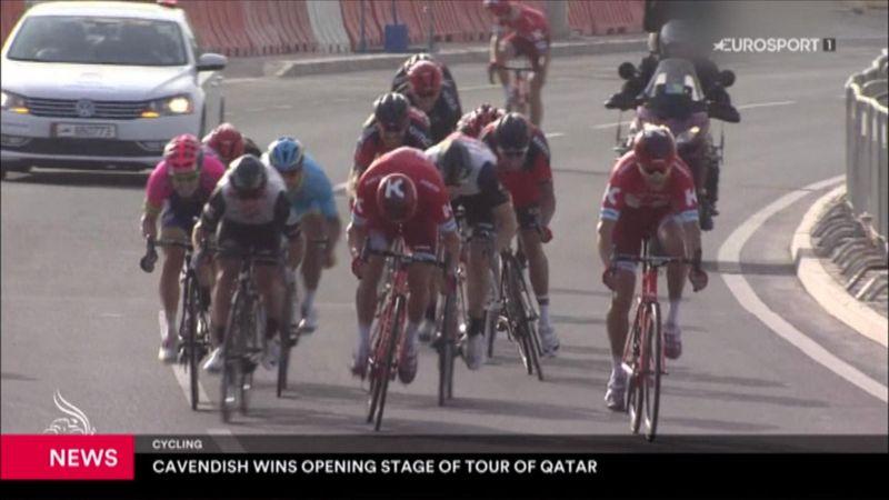 A Cavendish la prima tappa del Tour del Qatar