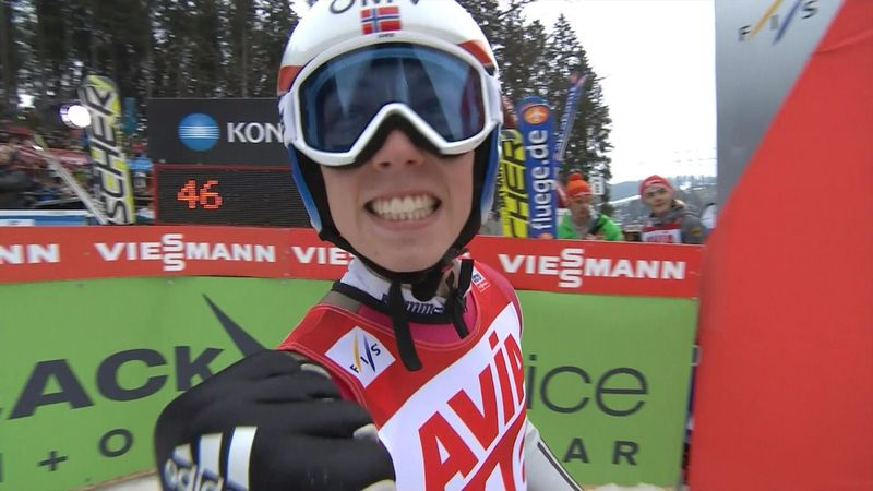 Forfang's near-perfect jump to claim first ever World Cup win