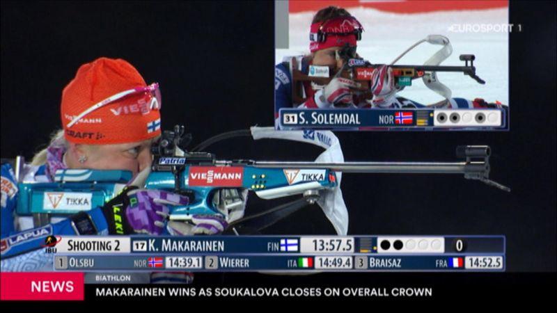 Makarainen wins sprint in Hochfilzen