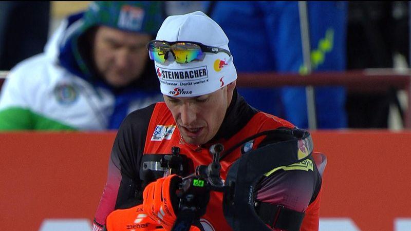 Eberhard wins final men's biathlon 10km sprint of season