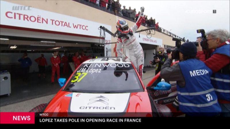 WTCC: Primera pole del año para 'Pechito' López en Paul Ricard