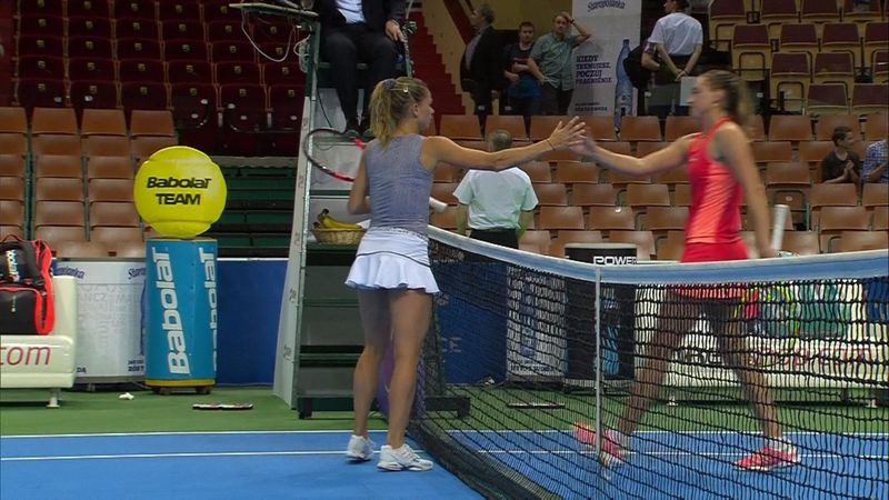 WTA Katowice, Giorgi-Sasnovich: Resumen del partido