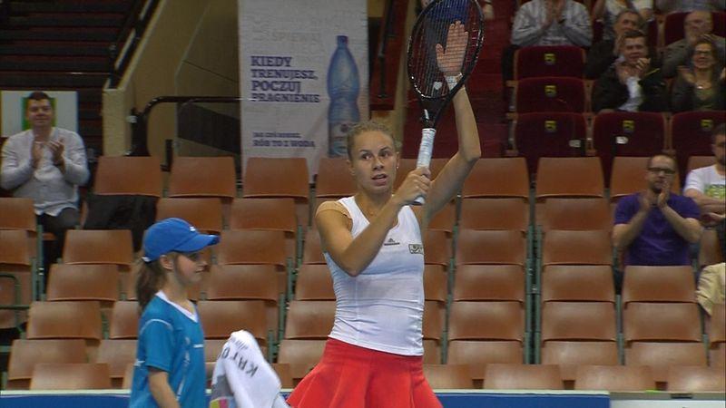 WTA Katowice: Stefanie Voegele - Magda Linette: 1-2 (Özet)