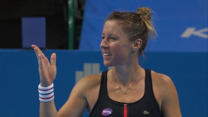 WTA Katowice: Pauline Parmentier - Magda Linette: 2-0 (Özet)