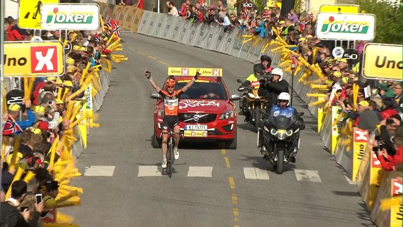 Pieter Weening wins stage two at Tour of Norway