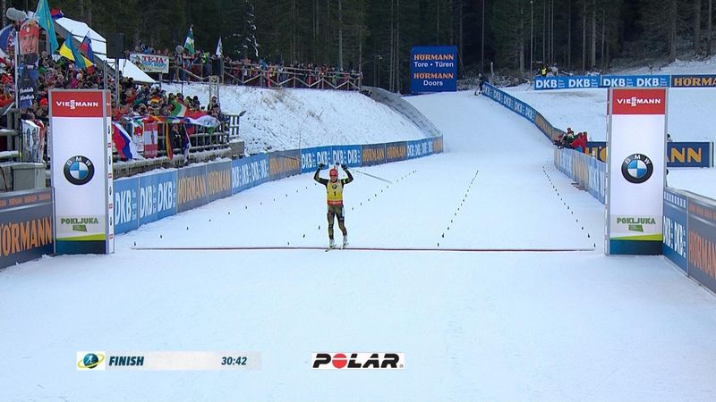 Pursuit femminile di Pokljuka: gli highlights