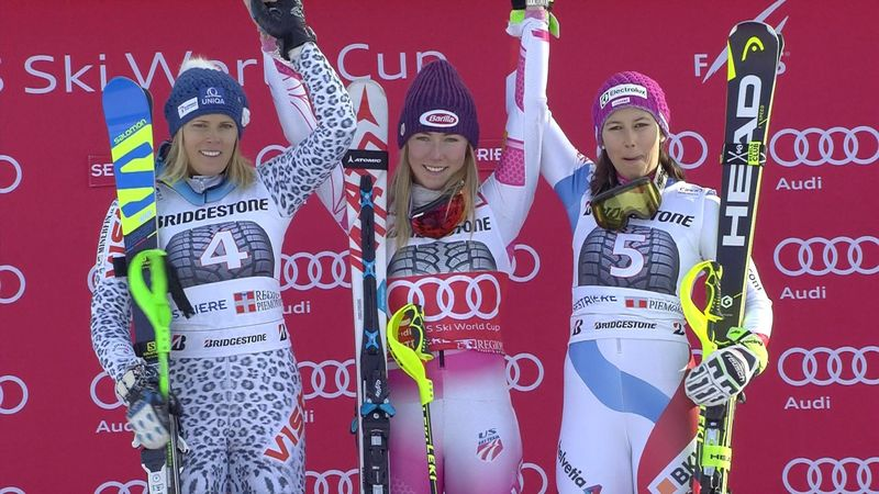 Shiffrin takes latest win Sestriere slalom