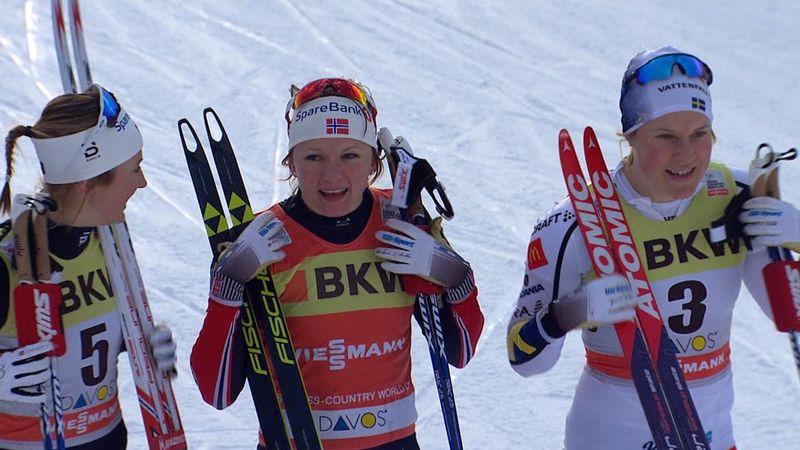 Maiken Caspersen Falla takes win in women's 1.6km sprint