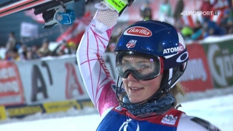 Mikaela Shiffrin surges to historic treble in Semmering