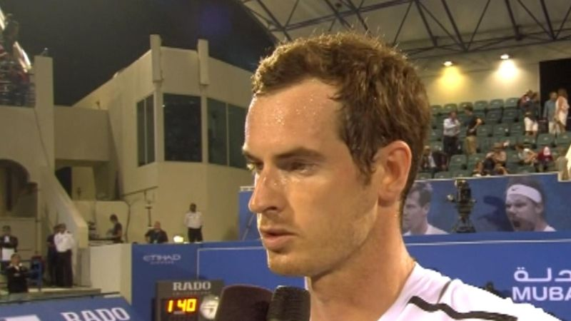Murray happy with 'great start to the year' in Abu Dhabi despite defeat